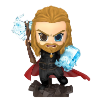 "Avengers 4: Endgame - Thor UV Effect Cosbaby 3.75"" Hot Toys Bobble-Head Figure"