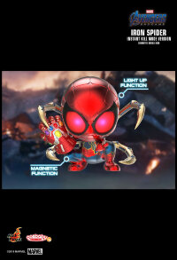 "Avengers 4: Endgame - Iron Spider Instant Kill Mode Light-Up Cosbaby 3.75"" Hot Toys Bobble-Head Figure"