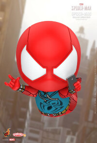 "Marvel's Spider-Man (2018) - Spider-Man Scarlet Spider Suit Cosbaby 3.75"" Hot Toys Bobble-Head Figure"