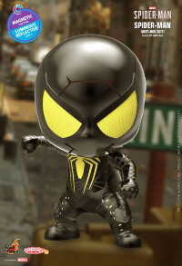 "Marvel's Spider-Man (2018) - Spider-Man Anti-Ock Suit Luminous Reflective Effect Cosbaby 3.75"" Hot Toys Bobble-Head Figure"