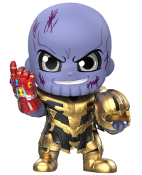 "Avengers 4: Endgame - Thanos With Nano Gauntlet Cosbaby 3.75"" Hot Toys Bobble-Head Figure"