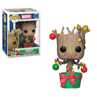 Funko Bobble: Marvel: Holiday: Groot w/ Lights & Ornaments