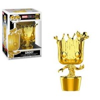Funko POP! Bobble: Marvel: MS 10: Groot (Chrome)