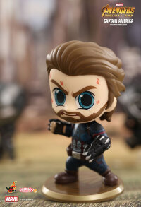 "Avengers 3: Infinity War - Captain America Cosbaby 3.75"" Hot Toys Bobble-Head Figure"