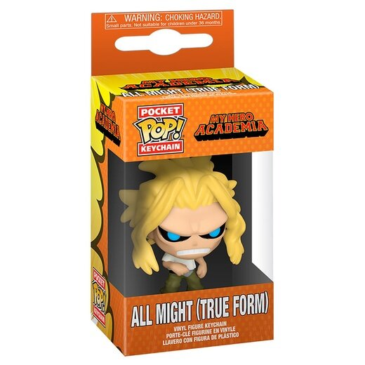 Купить Funko Pocket POP! Keychain: My Hero Academia: All Might (True Form)