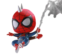 "MARVEL'S SPIDER-MAN (2018) - SPIDER-MAN SPIDER-PUNK COSBABY 3.75"" HOT TOYS BOBBLE-HEAD FIGURE"